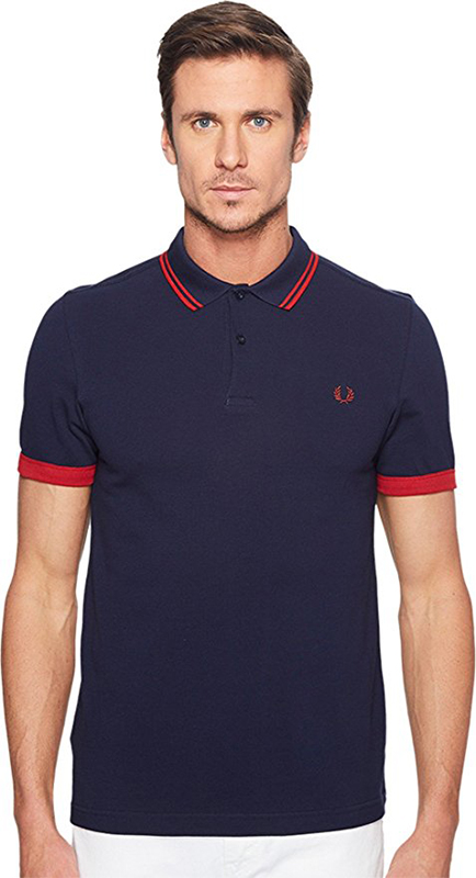 Fred Perry Mens Ringer Cuff Pique Shirt