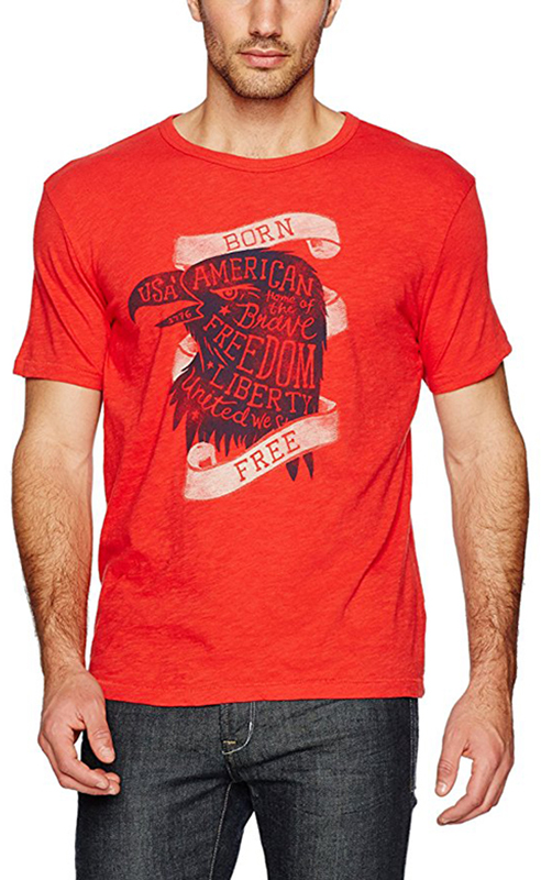 Lucky Brand Men's Born Free Graphic Tee