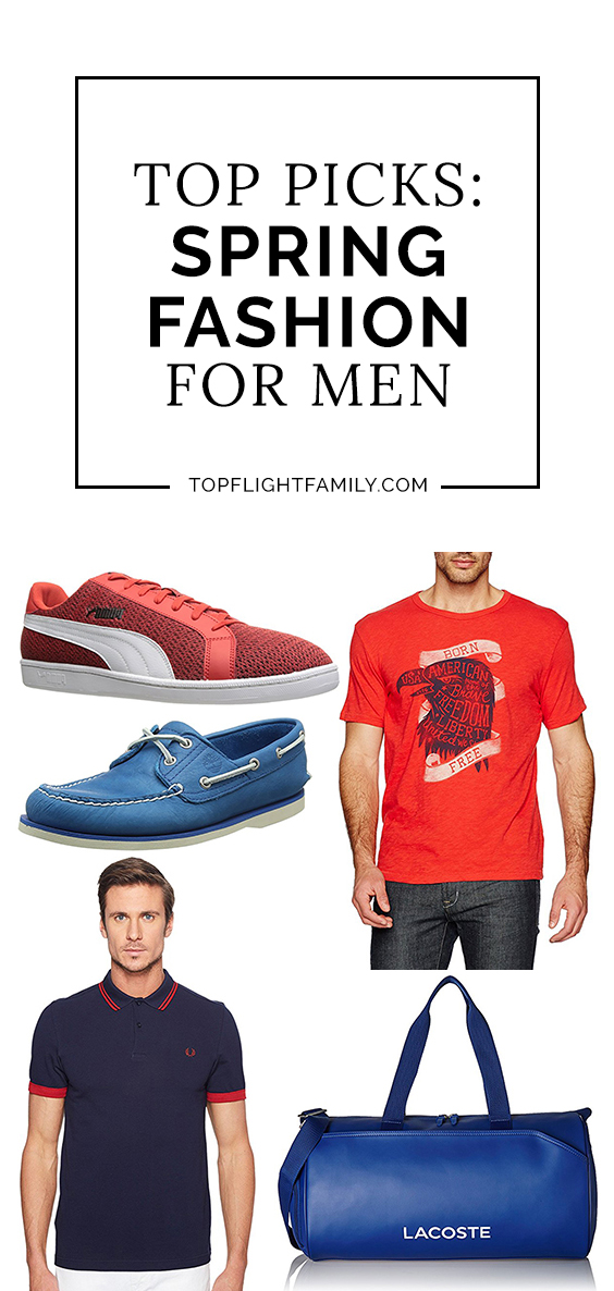 We have the perfect selection of mens spring fashion looks. From sneakers to shorts, from polo shirts to watches, you're bound to find an item he'll love.