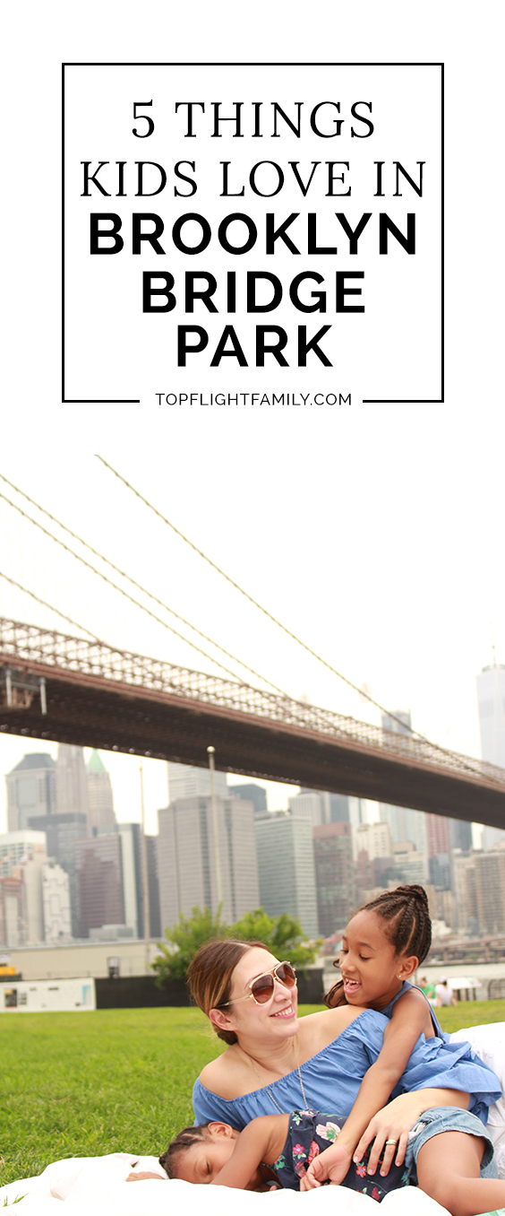 Coming to New York with kids? You must spend a day at Brooklyn Bridge Park. Here are five of our favorite Brooklyn Bridge Park activities.