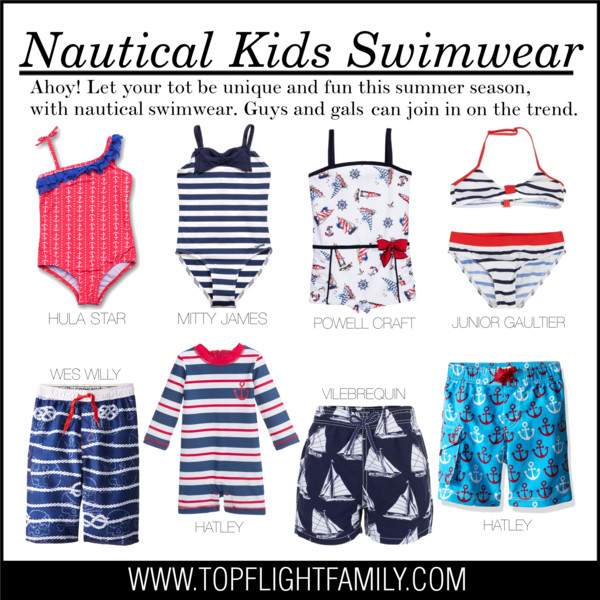 fca0642d47 Nautical Kids Swimwear - Polyvore - Top Flight Family
