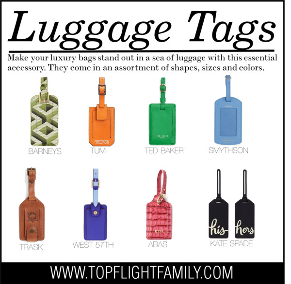 Designer Luggage Tags