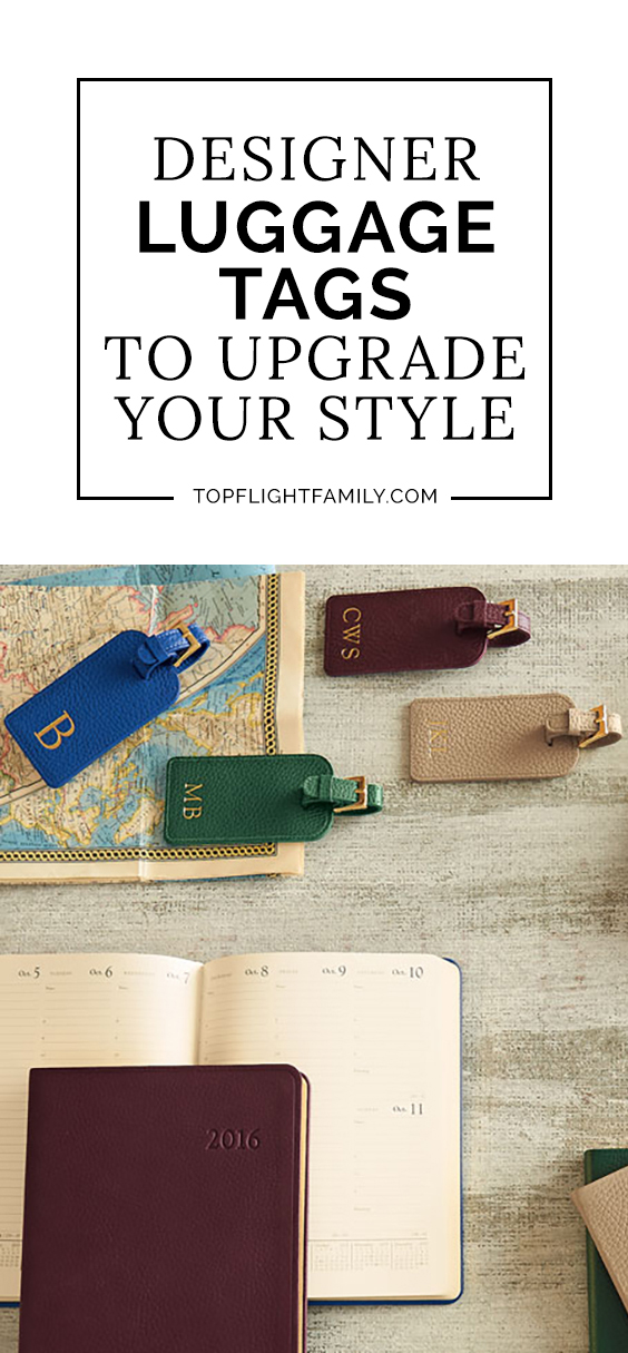 Upgrade your baggage with one of these designer luggage tags. They'll help prevent you losing your bags on your next trip.