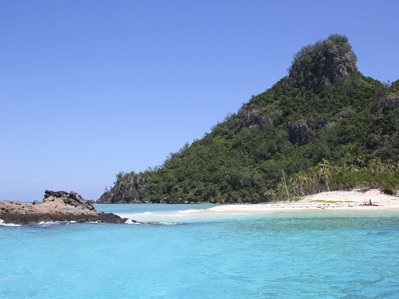 27722731 - perfect for snorkeling and swimming with pure white sand beaches, modriki is a tiny island, part of mamanuca islands in fiji, where the movie castaway was filmed
