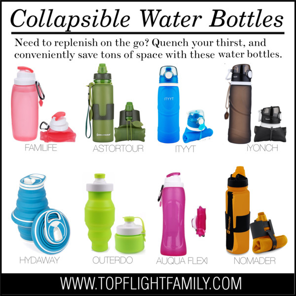 the 8 best collapsible water bottles to travel with top flight family. Black Bedroom Furniture Sets. Home Design Ideas