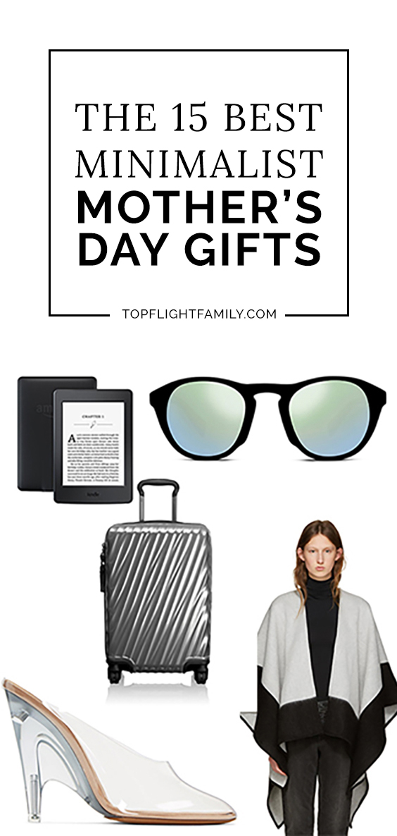 For the mom who loves clean lines and monochromatic palettes, we have the perfect selection of Mother's Day gifts, from carry-on luggage to scented candles.