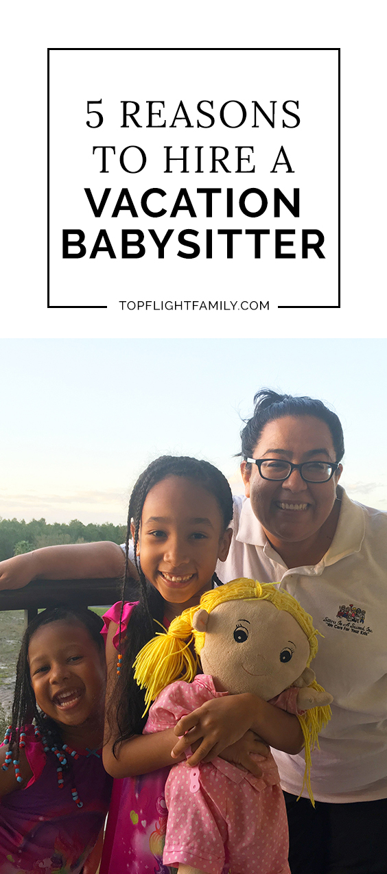 Hiring a vacation babysitter gives everyone much-needed space. Sitters In a Second reviews and vets its sitters throughly. Here's how the service works.