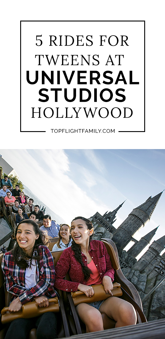 Bringing your tween to Universal Studios Hollywood? Here are the top 5 Universal Studios kid rides your tween will enjoy the most.