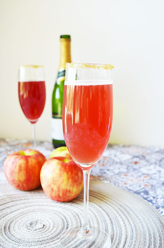 Apple Cider Cranberry Mimosas