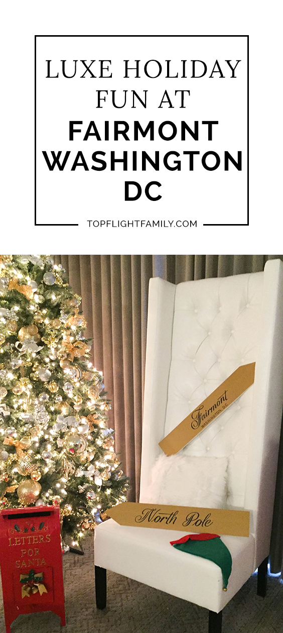 Taking kids to the nation's capital this holiday season? Stay at the Fairmont Washington DC Georgetown and you might run into Santa himself!