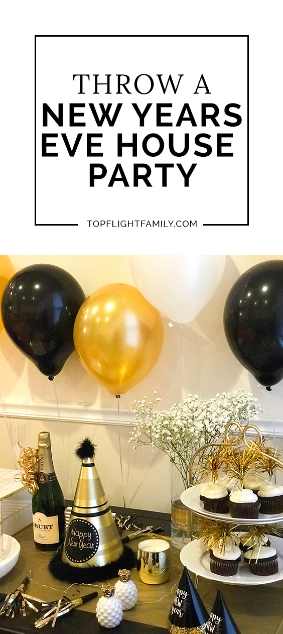 Having friends over for New Year's Eve? Here are some fun and easy New Years Eve house party ideas to make entertaining a breeze.