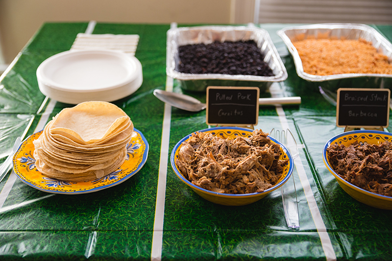 ideas for taco bar buffet