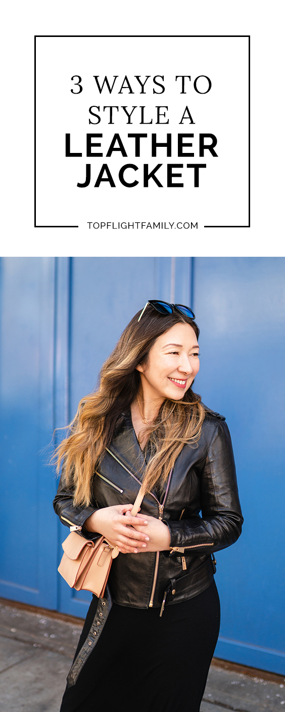 Leather jackets are perfect during transitional seasons, but styling them can be a little intimidating. Here are 3 tips on how to style a leather jacket.
